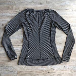 Lululemon Long Sleeve Striped Shirt With Pocket